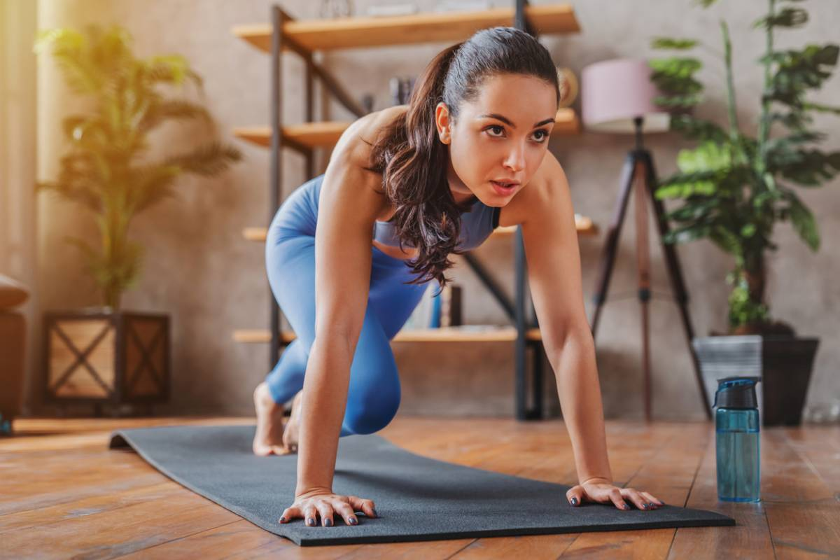 tapis de gym à la maison